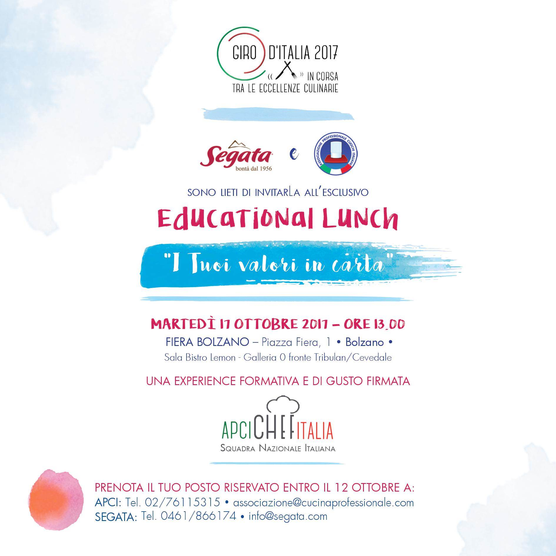 I tuoi valori in carta. Educational Lunch con Apci Italia