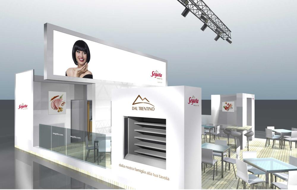 render stand tuttofood: lato sinistro