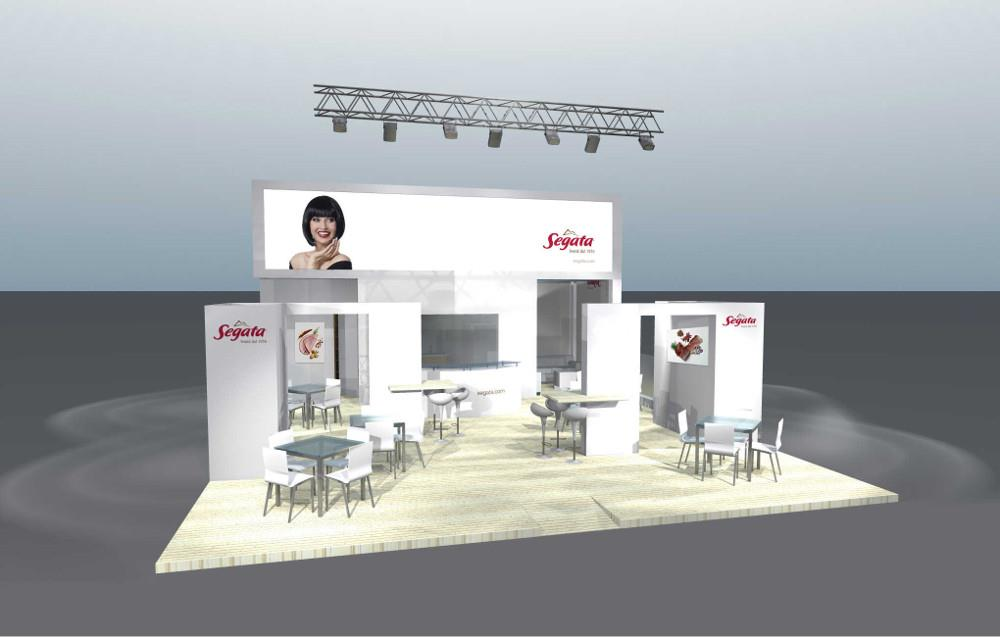 render stand tuttofood: vista frontale