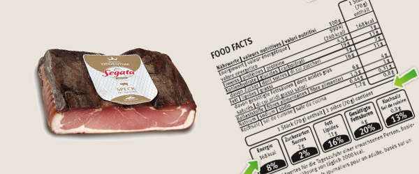 "Segata ahead of its time is studying new ""nutritional"" labels"